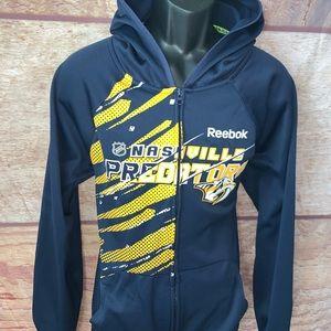 Nashville predators hoodie full zip men's small